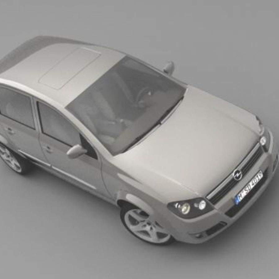 Opel Astra III royalty-free 3d model - Preview no. 4