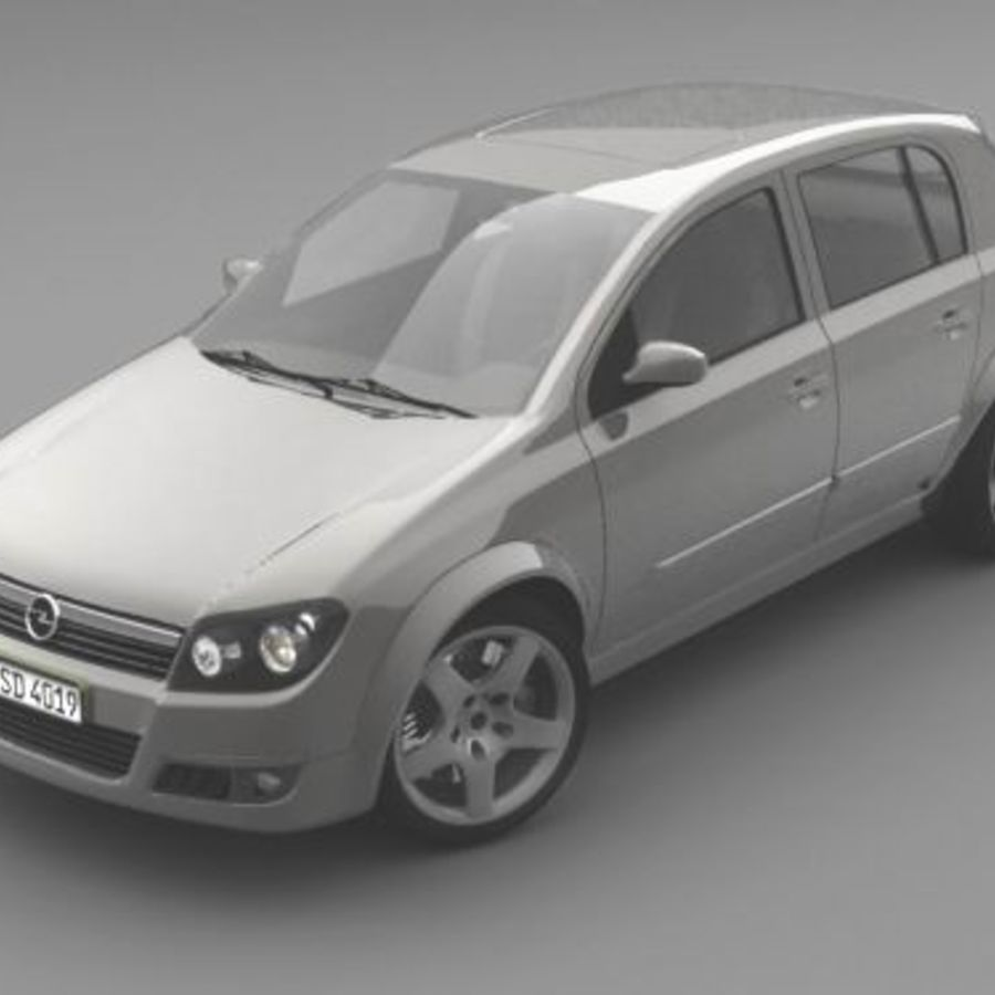 Opel Astra III royalty-free 3d model - Preview no. 3