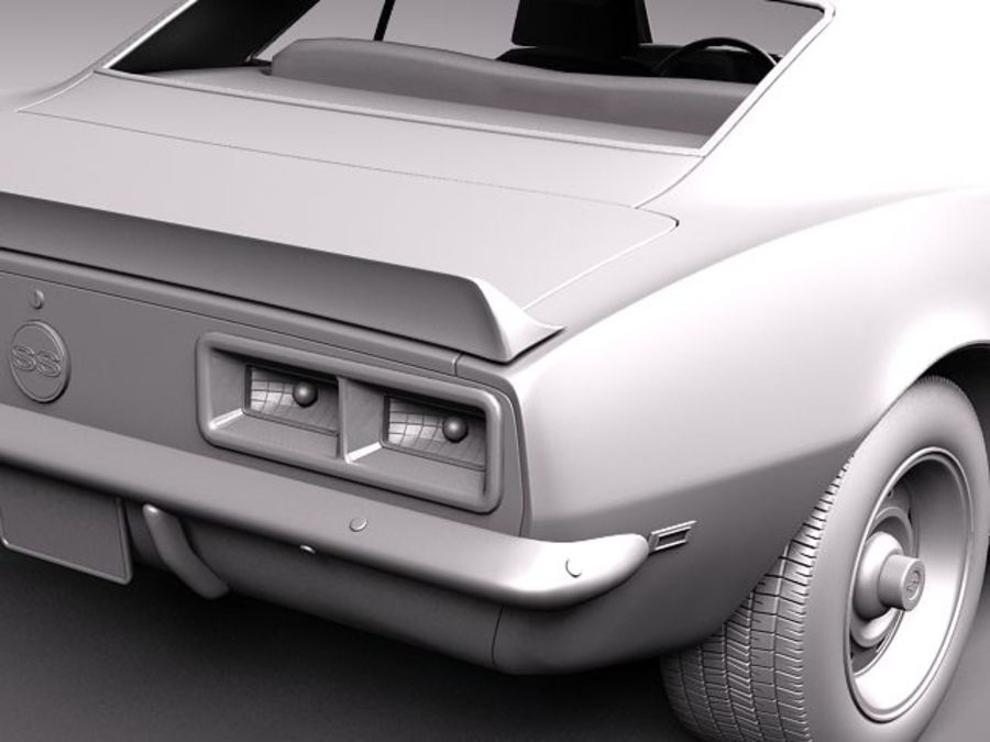 雪佛兰Camaro 1967 SS RS royalty-free 3d model - Preview no. 13