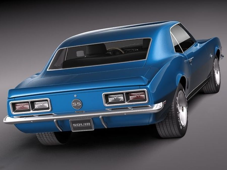 雪佛兰Camaro 1967 SS RS royalty-free 3d model - Preview no. 5