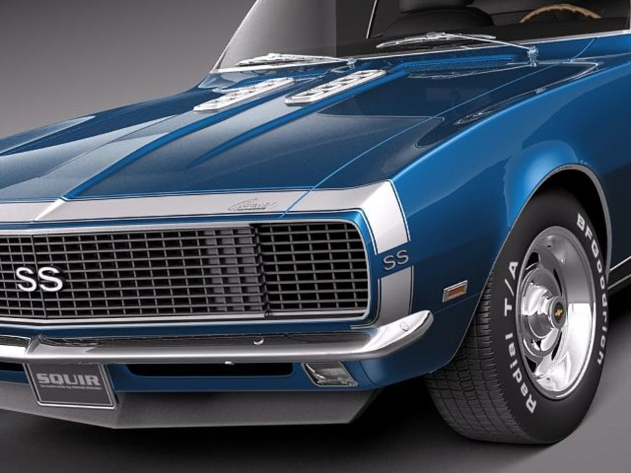 雪佛兰Camaro 1967 SS RS royalty-free 3d model - Preview no. 3