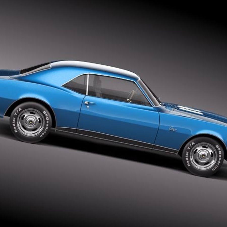 雪佛兰Camaro 1967 SS RS royalty-free 3d model - Preview no. 7