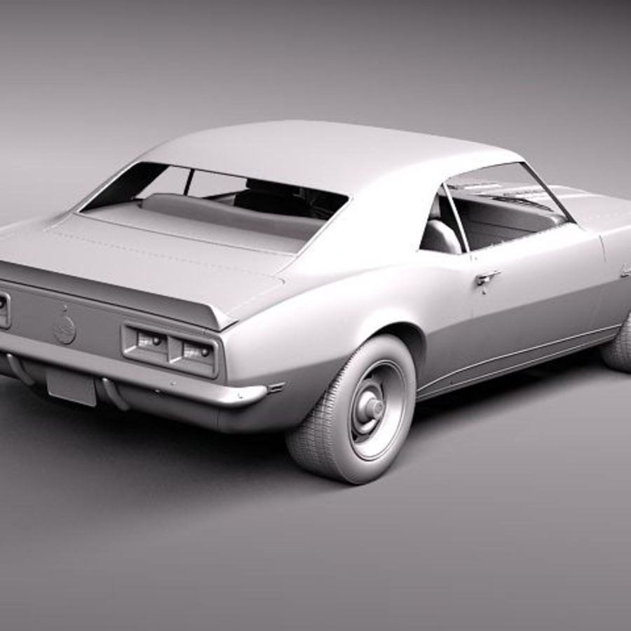 雪佛兰Camaro 1967 SS RS royalty-free 3d model - Preview no. 14
