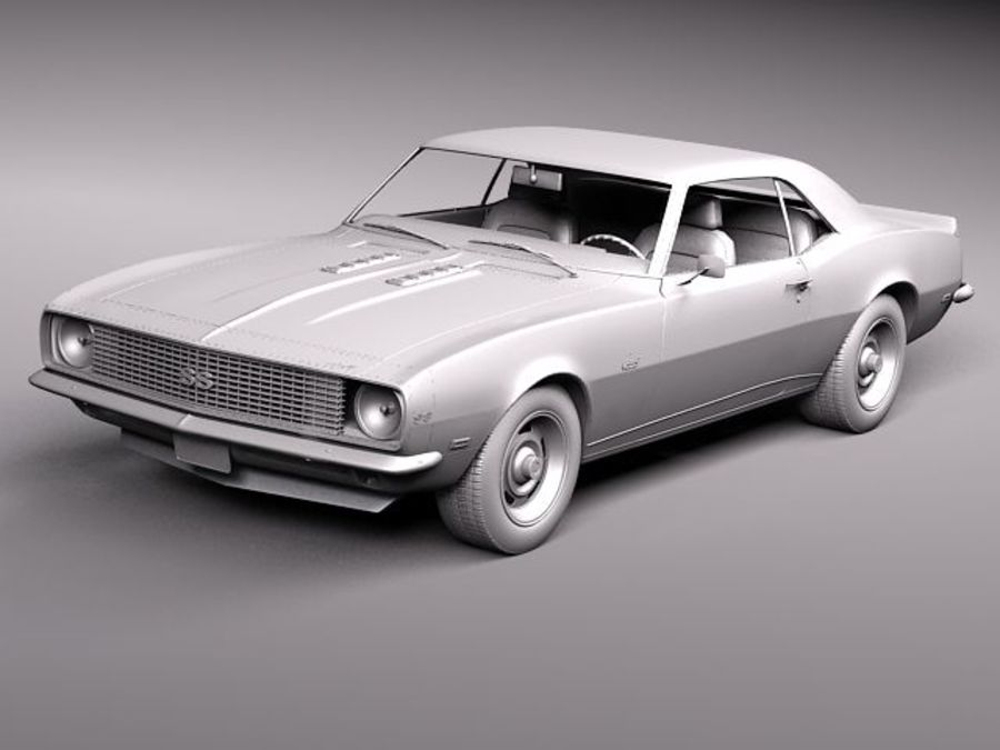雪佛兰Camaro 1967 SS RS royalty-free 3d model - Preview no. 11