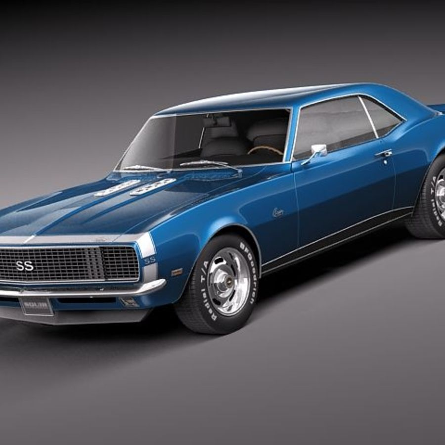 雪佛兰Camaro 1967 SS RS royalty-free 3d model - Preview no. 1
