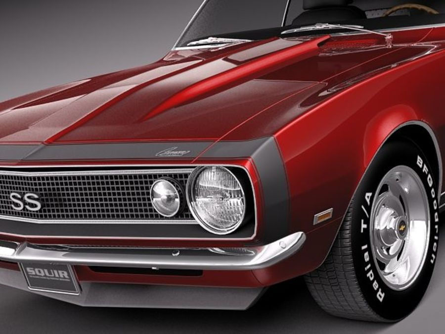 Chevrolet Camaro 1967 SS royalty-free modelo 3d - Preview no. 3