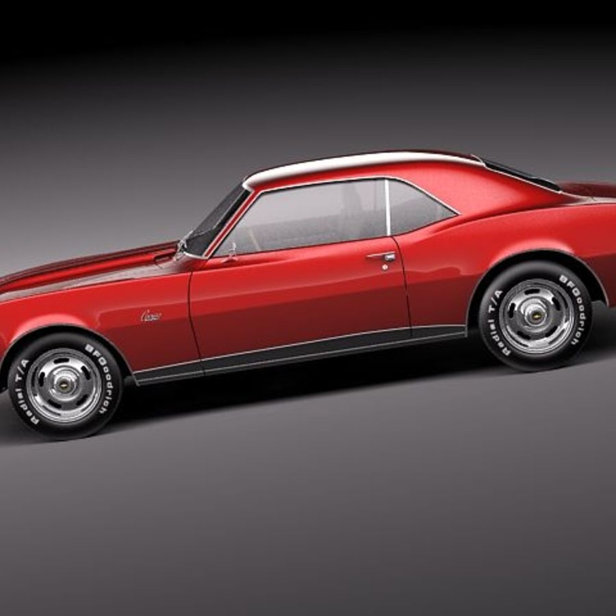 Chevrolet Camaro 1967 SS royalty-free modelo 3d - Preview no. 7