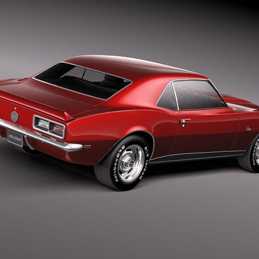 Chevrolet Camaro 1967 SS royalty-free modelo 3d - Preview no. 5