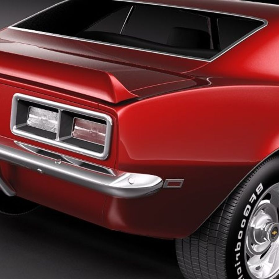 Chevrolet Camaro 1967 SS royalty-free modelo 3d - Preview no. 4