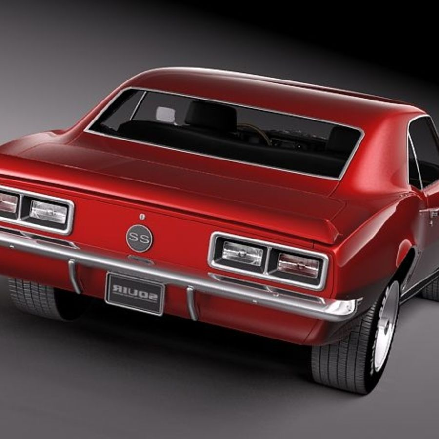 Chevrolet Camaro 1967 SS royalty-free modelo 3d - Preview no. 6