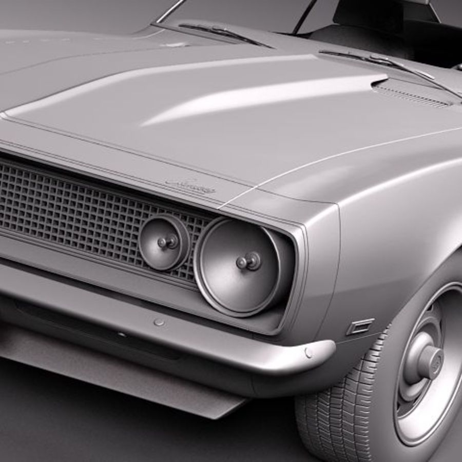 Chevrolet Camaro 1967 SS royalty-free modelo 3d - Preview no. 9