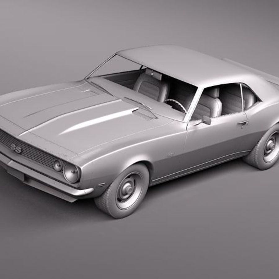 Chevrolet Camaro 1967 SS royalty-free modelo 3d - Preview no. 10