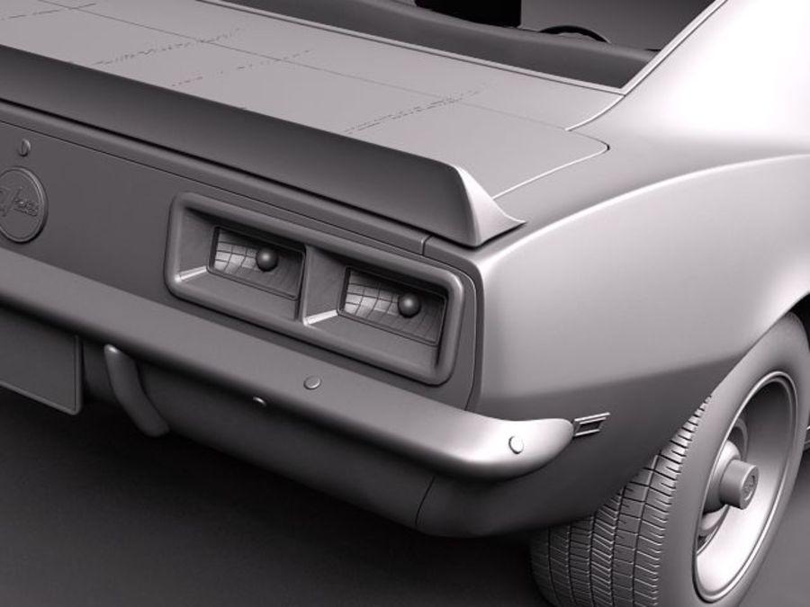 Chevrolet Camaro 1967 Z28 royalty-free 3d model - Preview no. 10