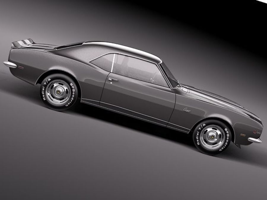 Chevrolet Camaro 1967 Z28 royalty-free modelo 3d - Preview no. 7