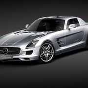 Mercedes SLS - (SLS AMG Gullwing ) 3d model