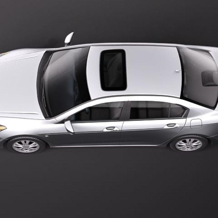 Honda Accord 2011 USA royalty-free 3d model - Preview no. 8