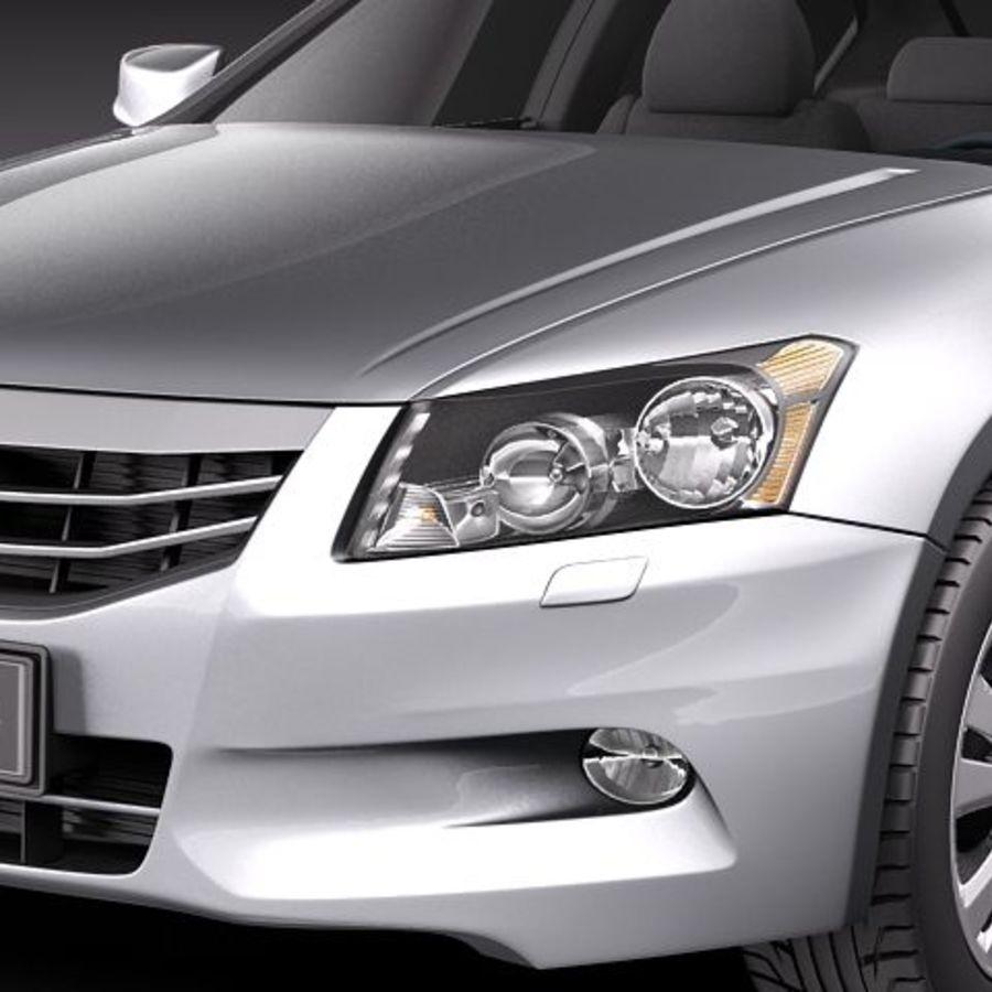 Honda Accord 2011 USA royalty-free 3d model - Preview no. 3