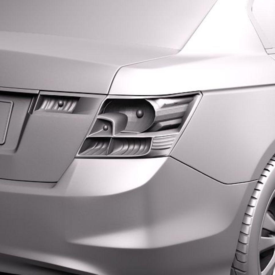 Honda Accord 2011 USA royalty-free 3d model - Preview no. 11