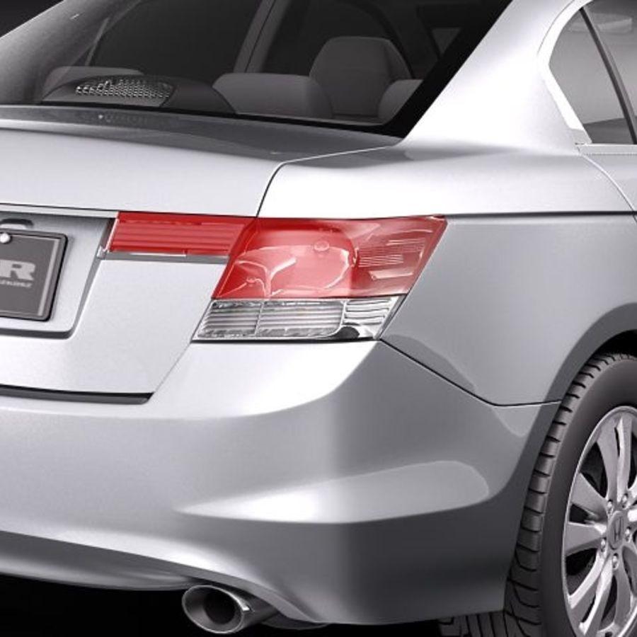 Honda Accord 2011 USA royalty-free 3d model - Preview no. 4