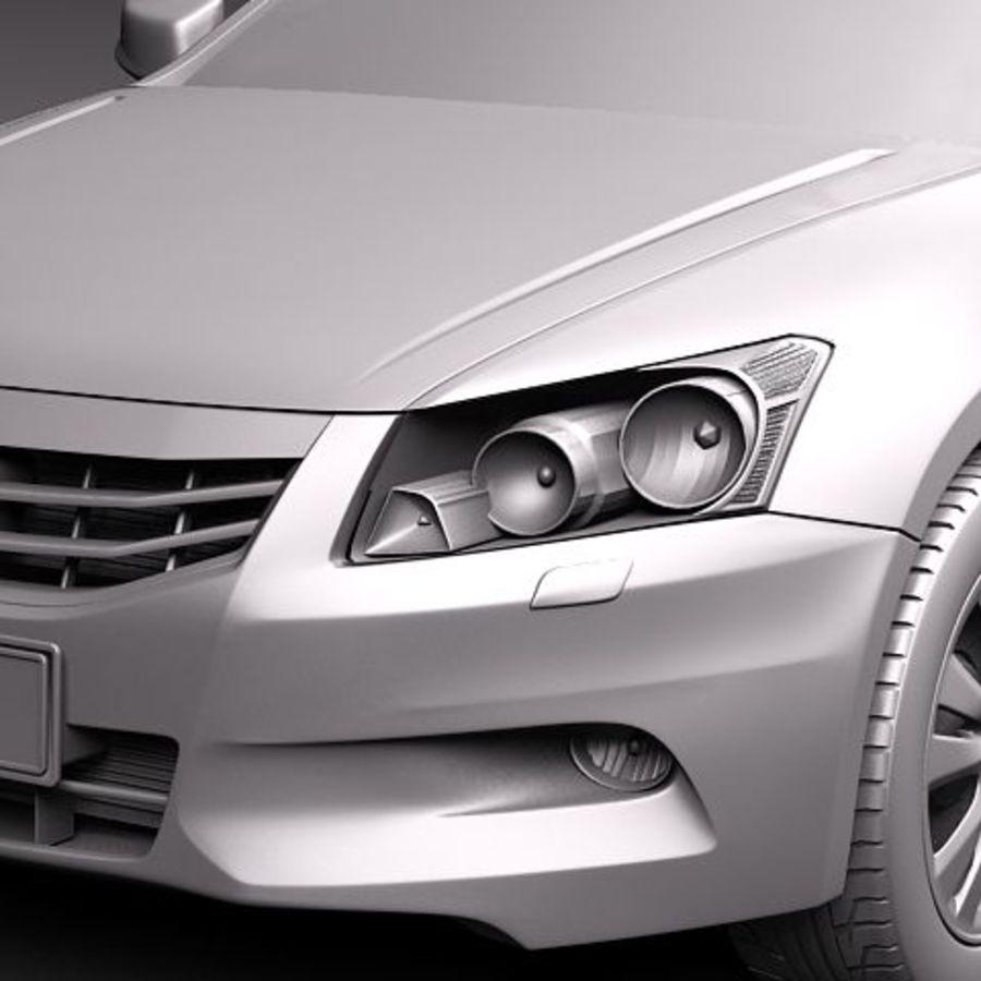 Honda Accord 2011 USA royalty-free 3d model - Preview no. 10