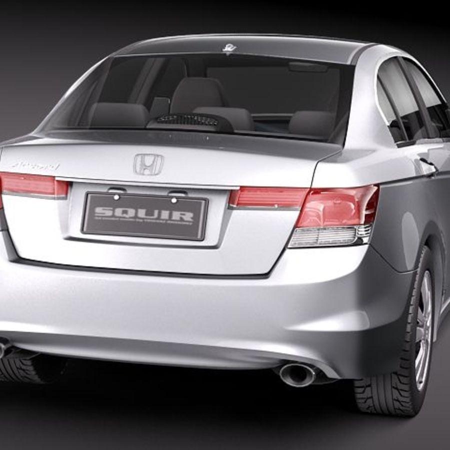 Honda Accord 2011 USA royalty-free 3d model - Preview no. 6