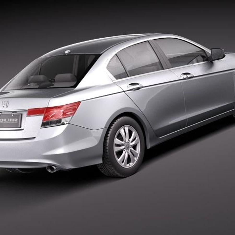 Honda Accord 2011 USA royalty-free 3d model - Preview no. 5