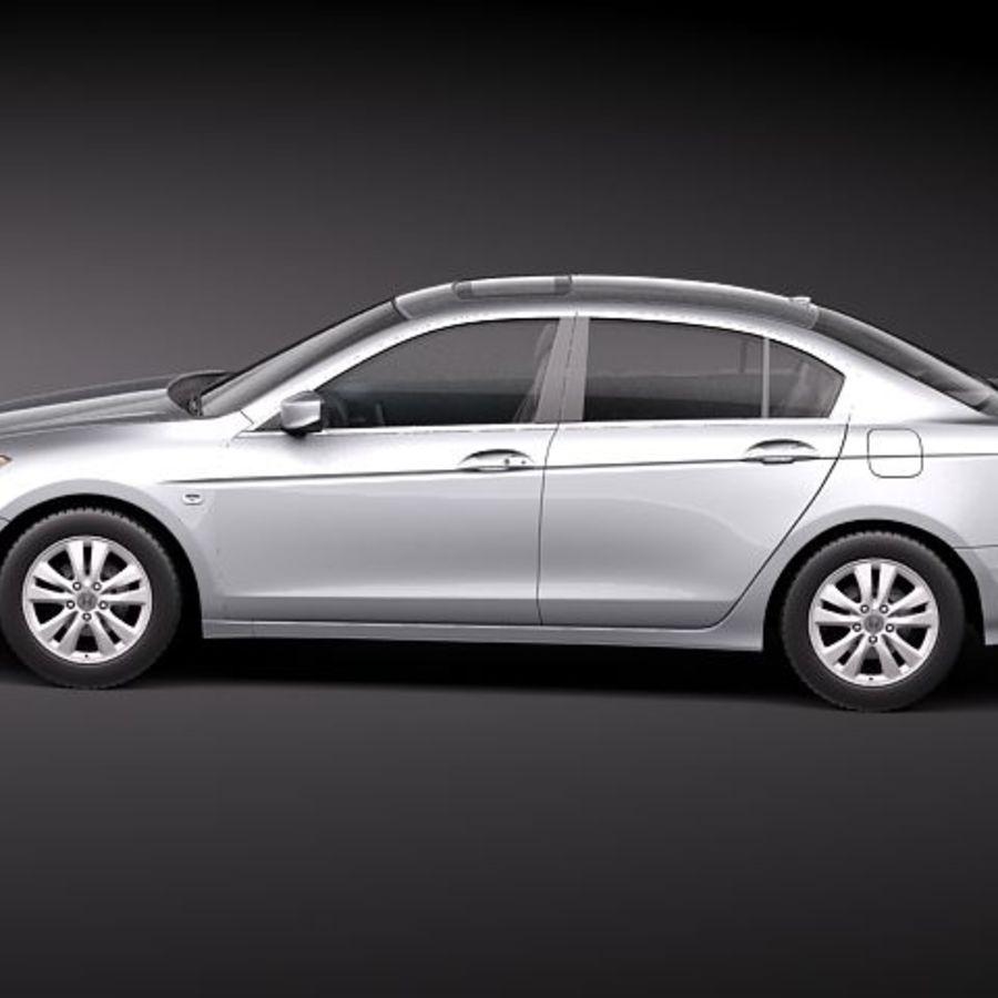 Honda Accord 2011 USA royalty-free 3d model - Preview no. 7