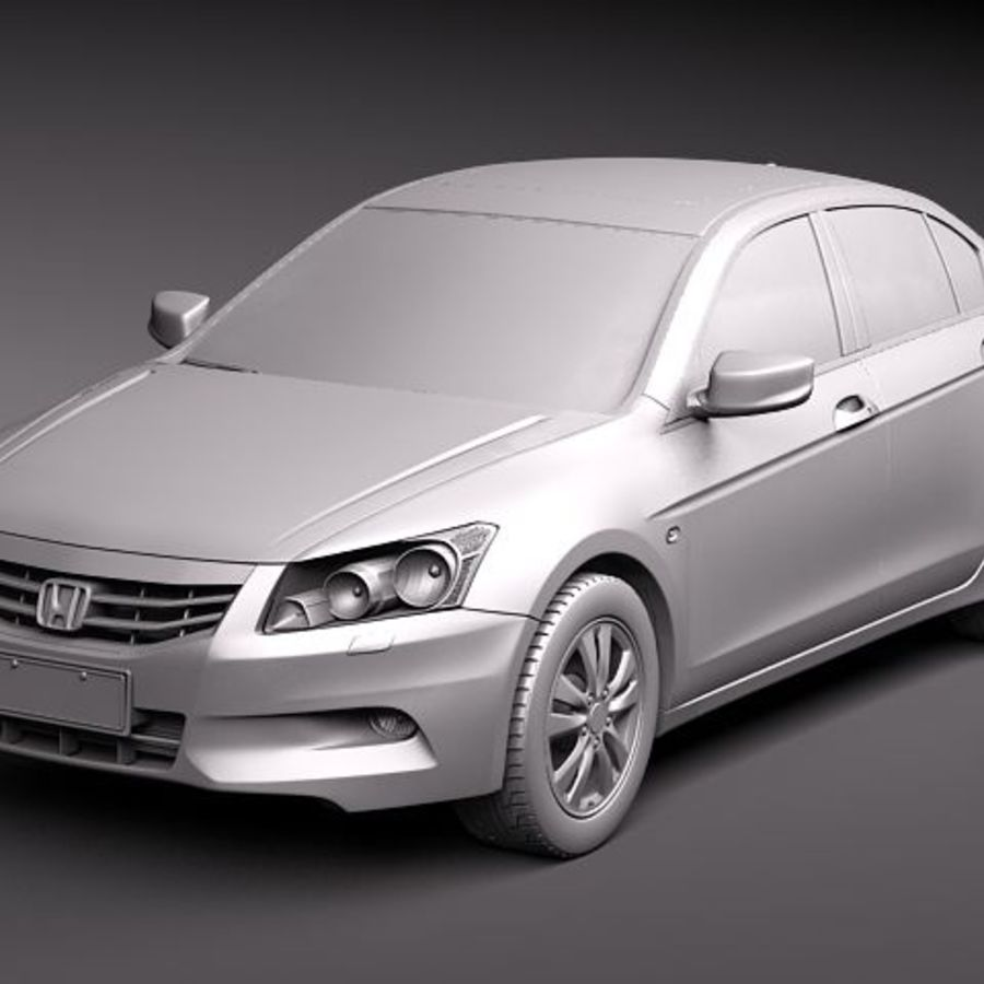 Honda Accord 2011 USA royalty-free 3d model - Preview no. 9