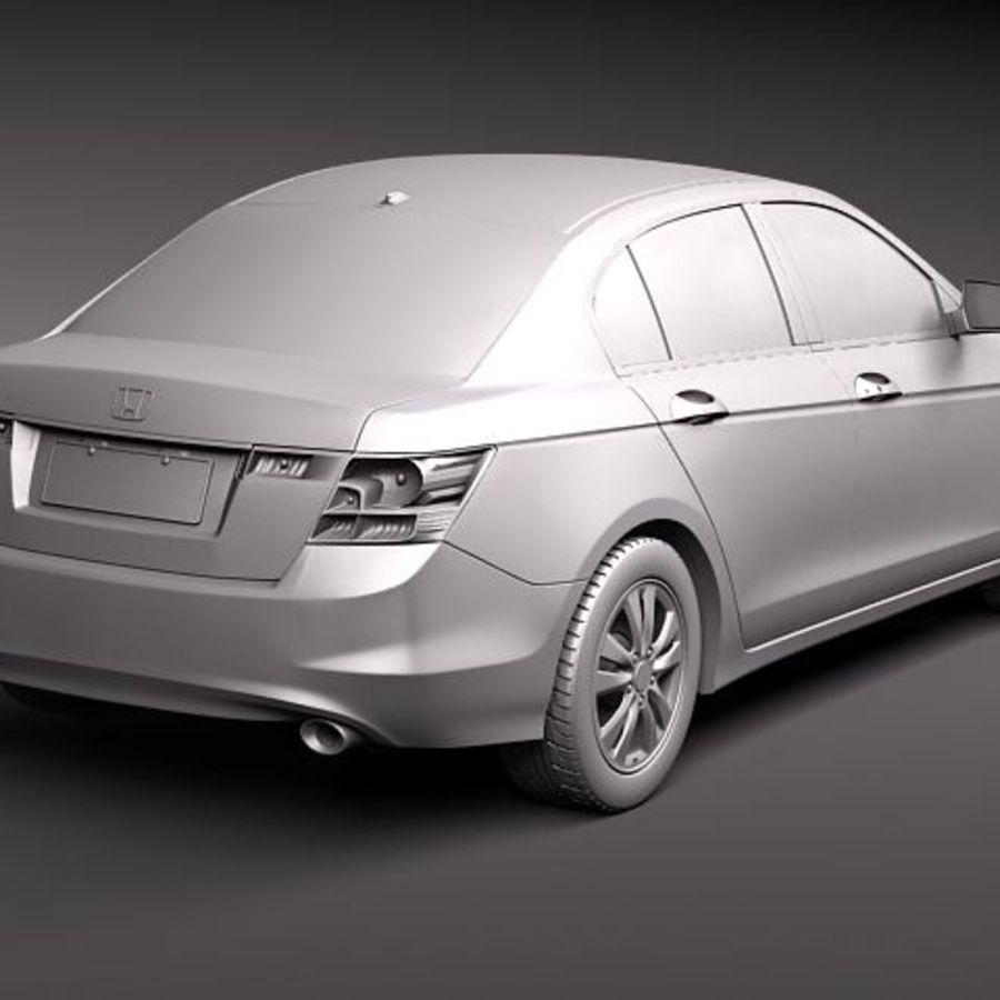 Honda Accord 2011 USA royalty-free 3d model - Preview no. 12