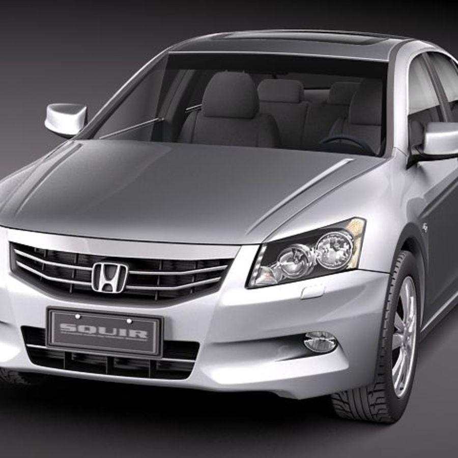 Honda Accord 2011 USA royalty-free 3d model - Preview no. 2
