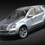 Mercedes ML 2009-2012 3d model