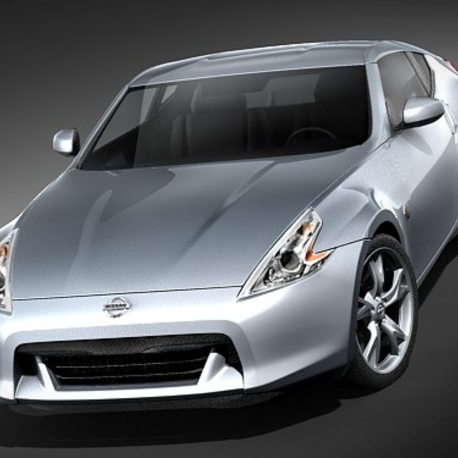 Nissan 370z royalty-free 3d model - Preview no. 2