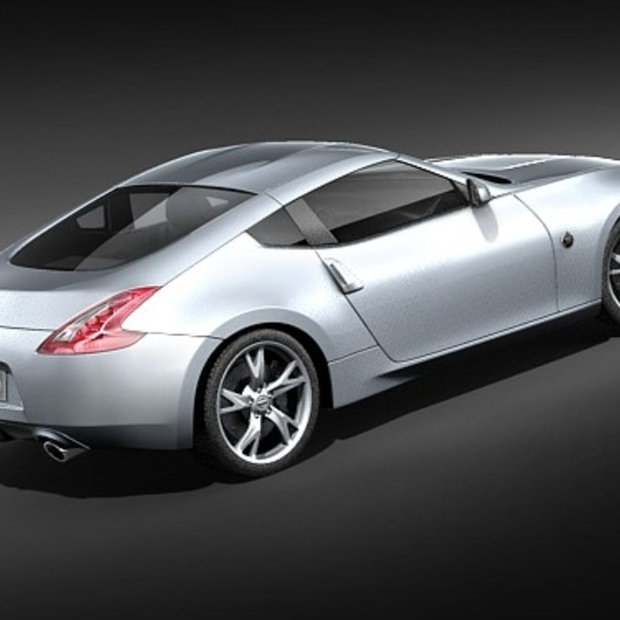 Nissan 370z royalty-free 3d model - Preview no. 5