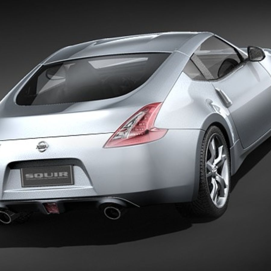Nissan 370z royalty-free 3d model - Preview no. 6