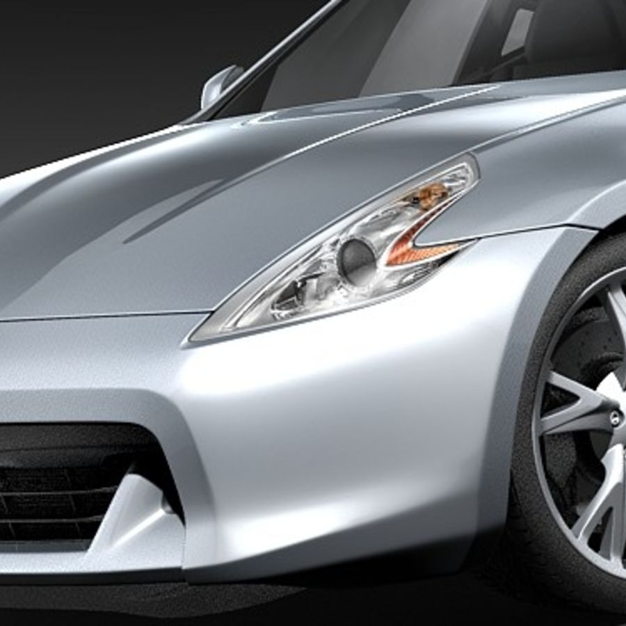 Nissan 370z royalty-free 3d model - Preview no. 3