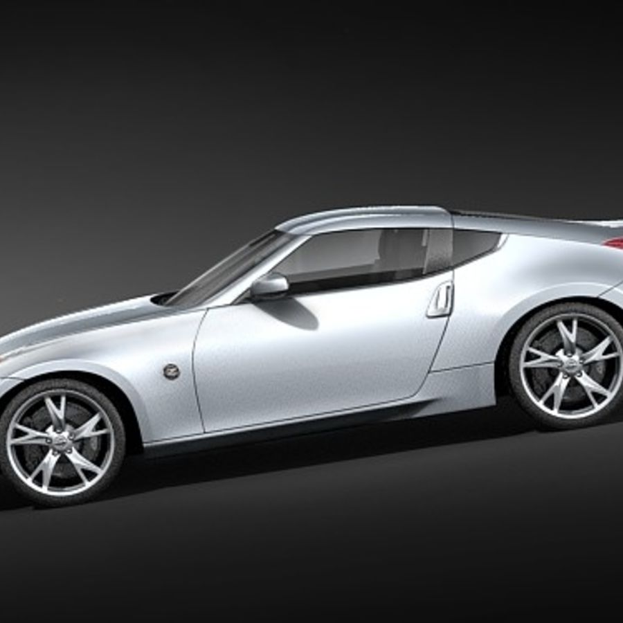 Nissan 370z royalty-free 3d model - Preview no. 7