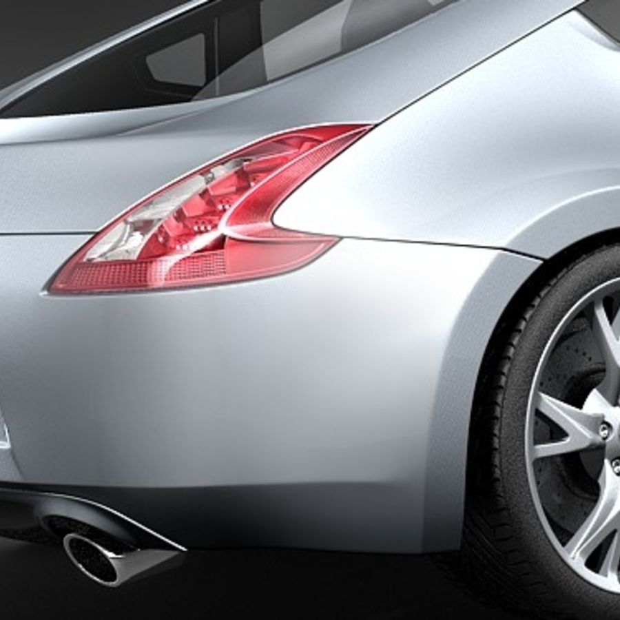 Nissan 370z royalty-free 3d model - Preview no. 4