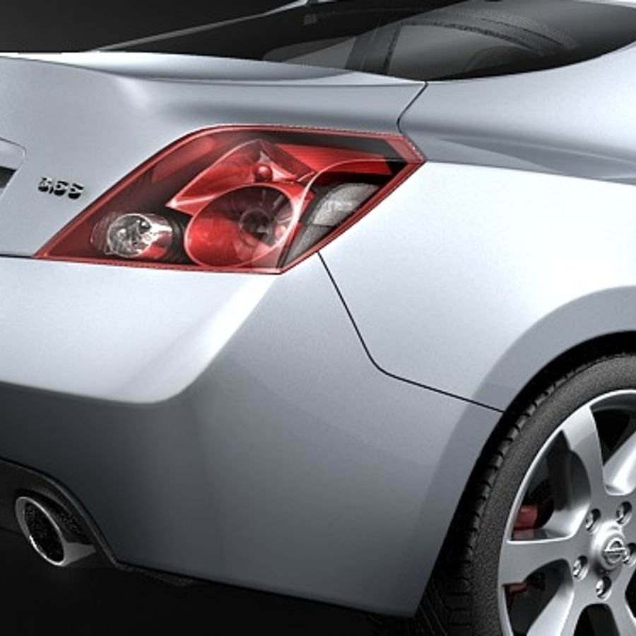 Nissan Altima Coupe 2009 royalty-free 3d model - Preview no. 4