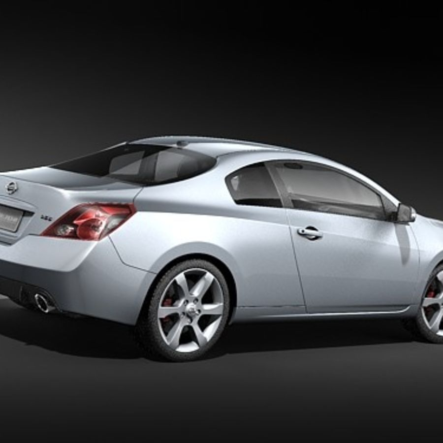 Nissan Altima Coupe 2009 royalty-free 3d model - Preview no. 5