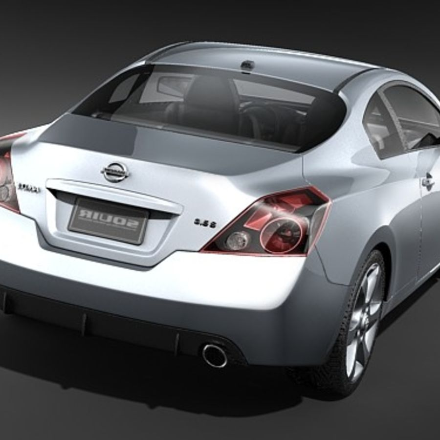 Nissan Altima Coupe 2009 royalty-free 3d model - Preview no. 6