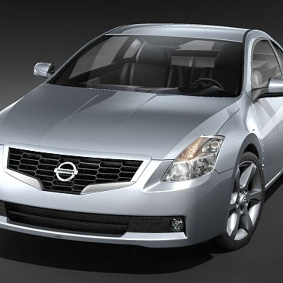Nissan Altima Coupe 2009 royalty-free 3d model - Preview no. 2