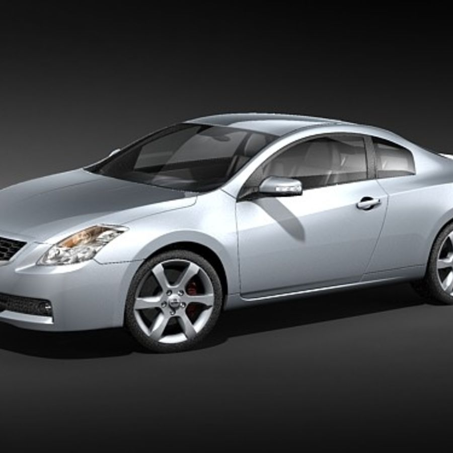 Nissan Altima Coupe 2009 royalty-free 3d model - Preview no. 1