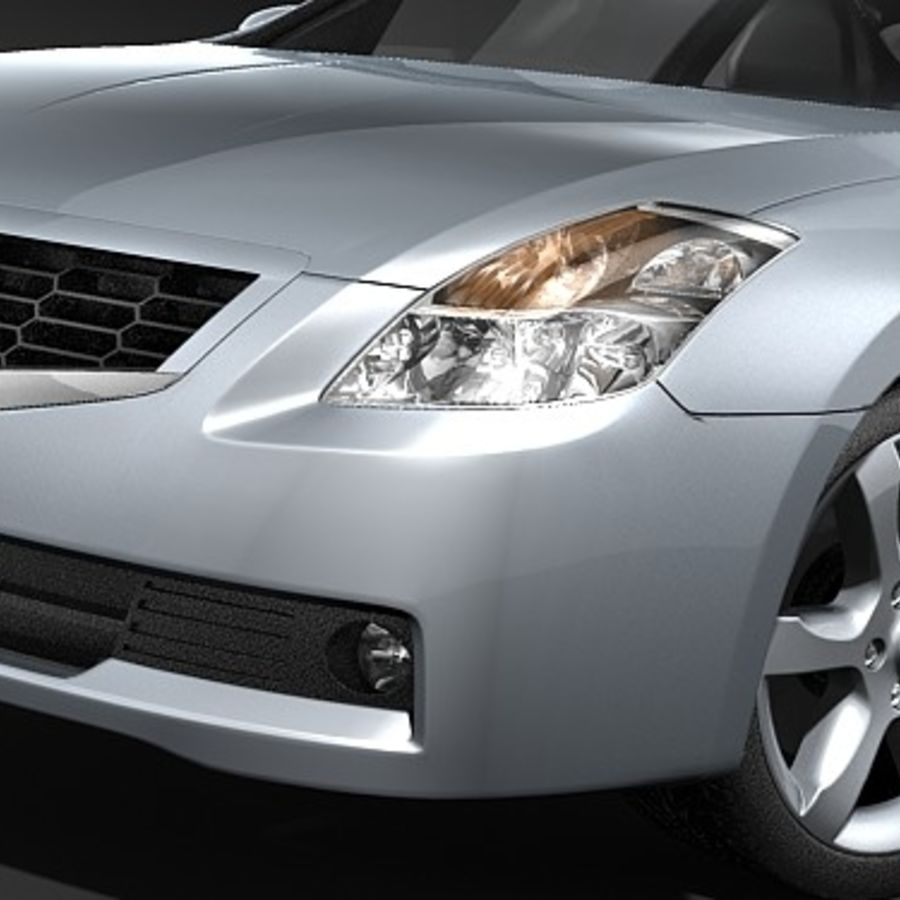 Nissan Altima Coupe 2009 royalty-free 3d model - Preview no. 3