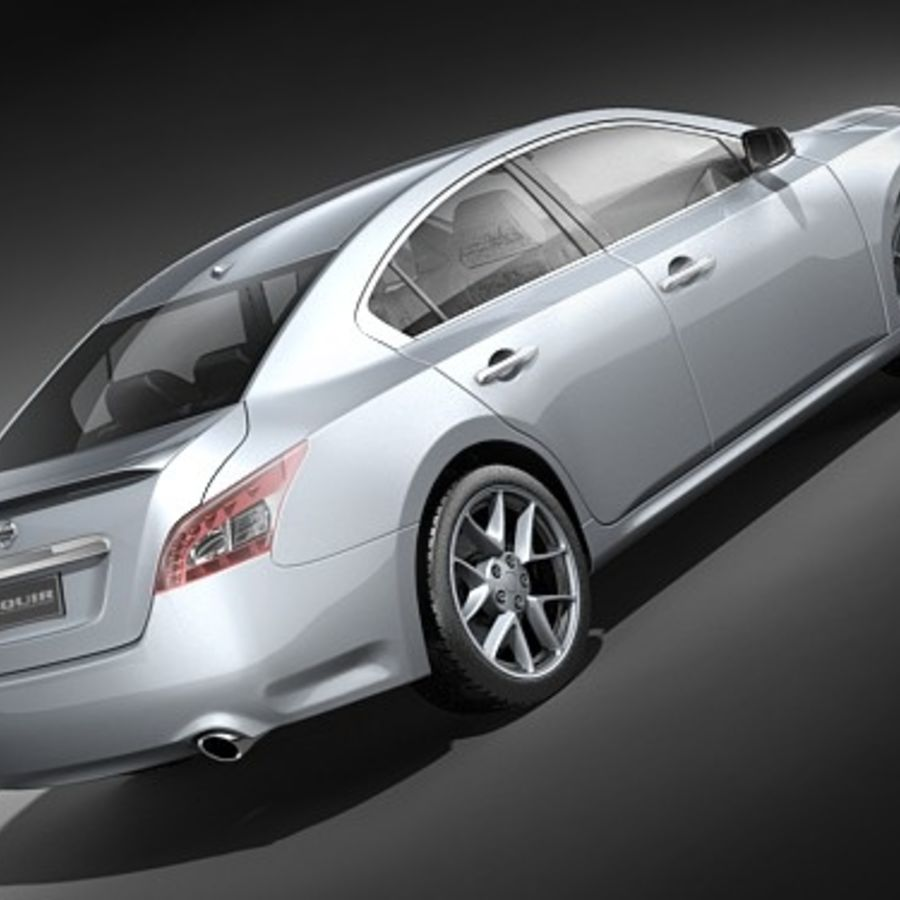 Nissan Maxima 2009 royalty-free 3d model - Preview no. 5