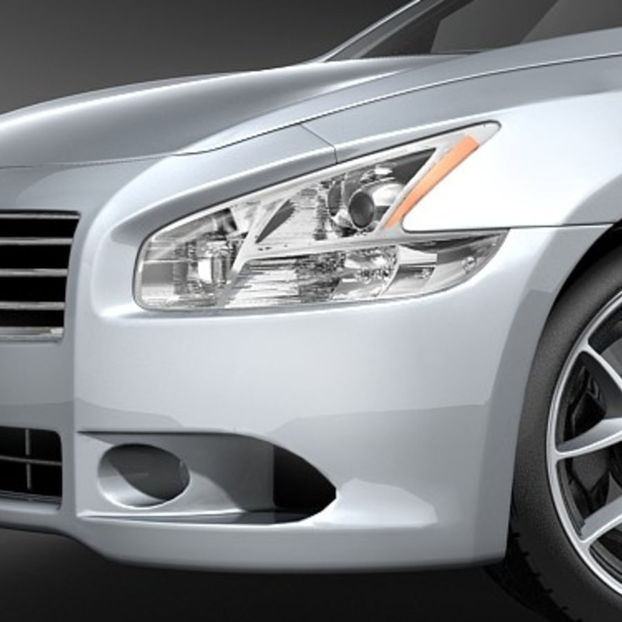 Nissan Maxima 2009 royalty-free 3d model - Preview no. 3