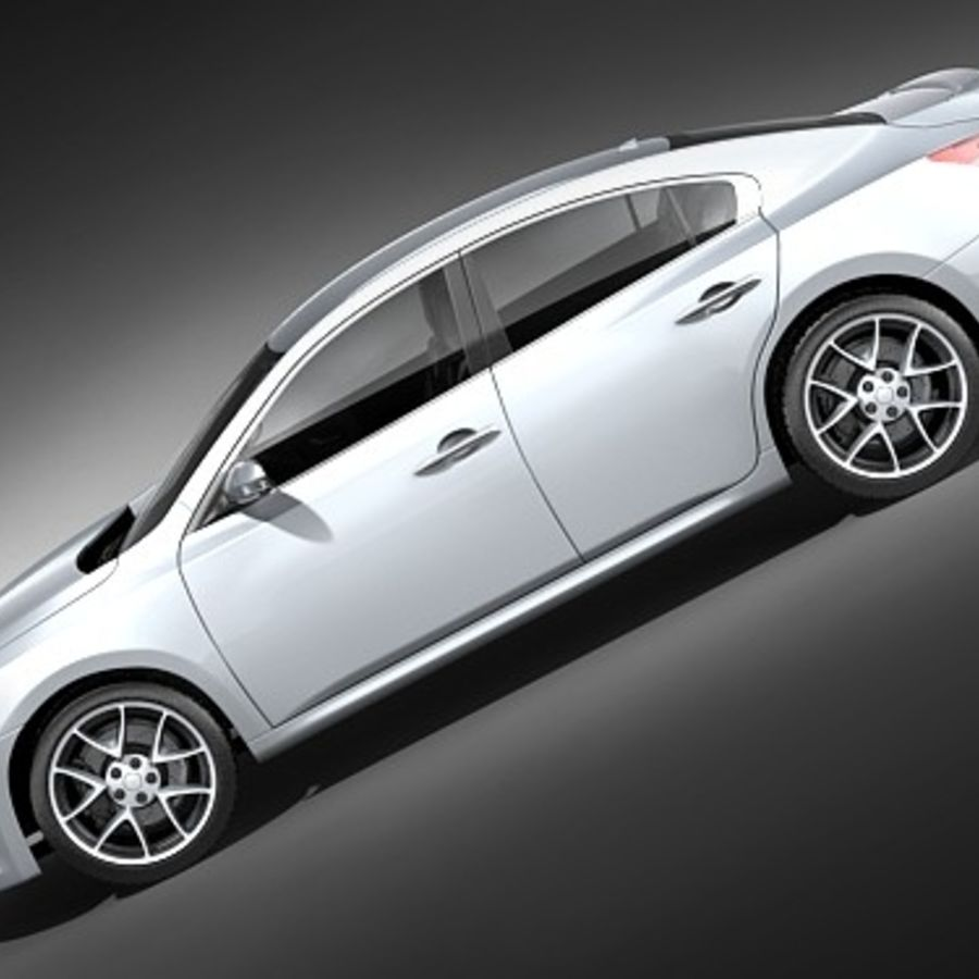 Nissan Maxima 2009 royalty-free 3d model - Preview no. 7