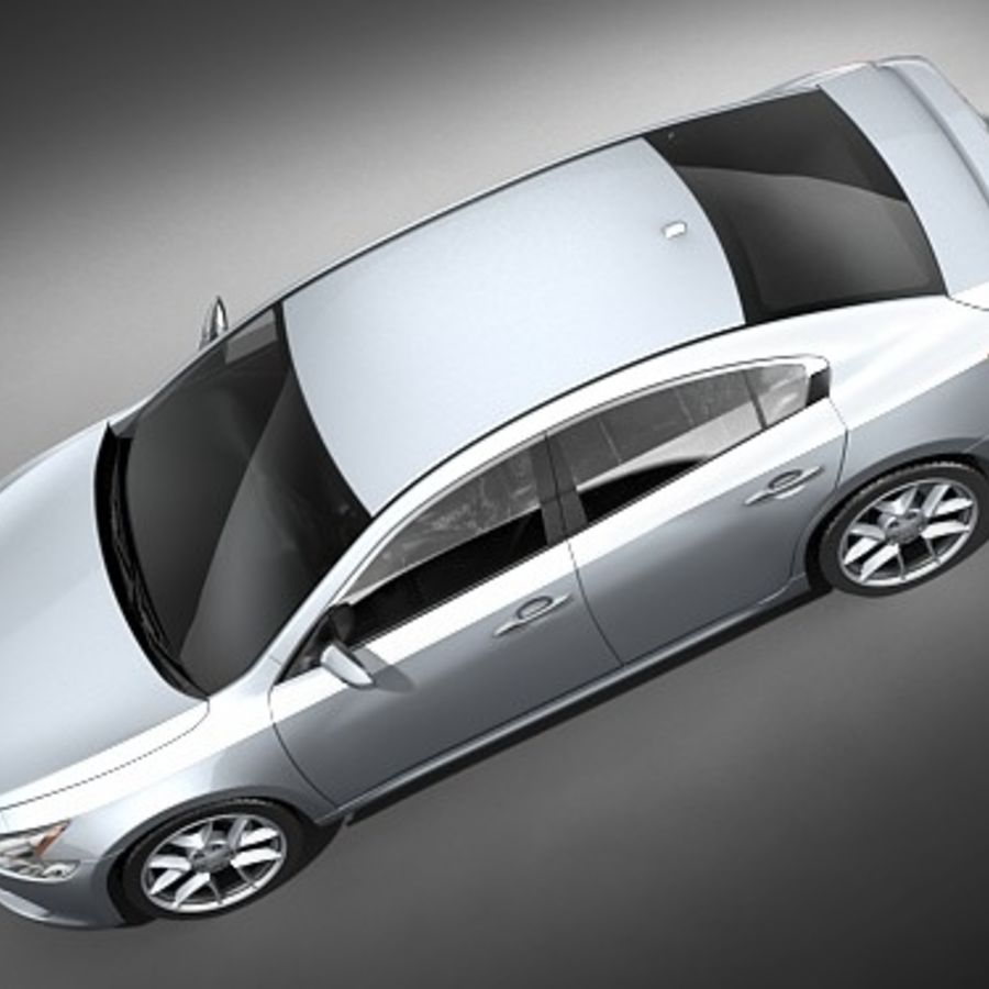 Nissan Maxima 2009 royalty-free 3d model - Preview no. 8