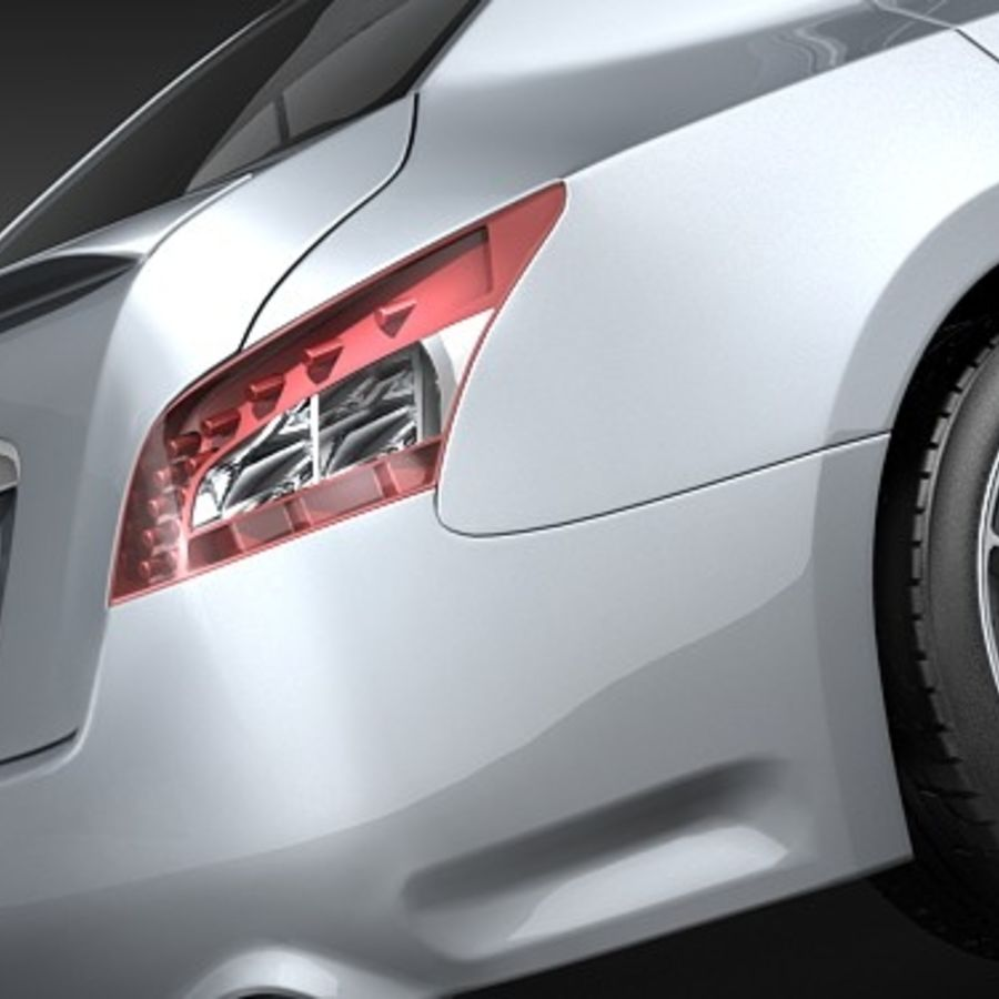 Nissan Maxima 2009 royalty-free 3d model - Preview no. 4