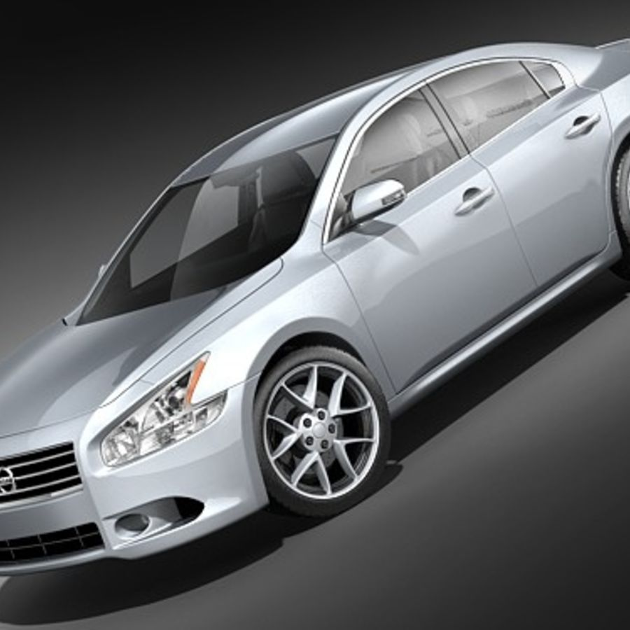 Nissan Maxima 2009 royalty-free 3d model - Preview no. 1
