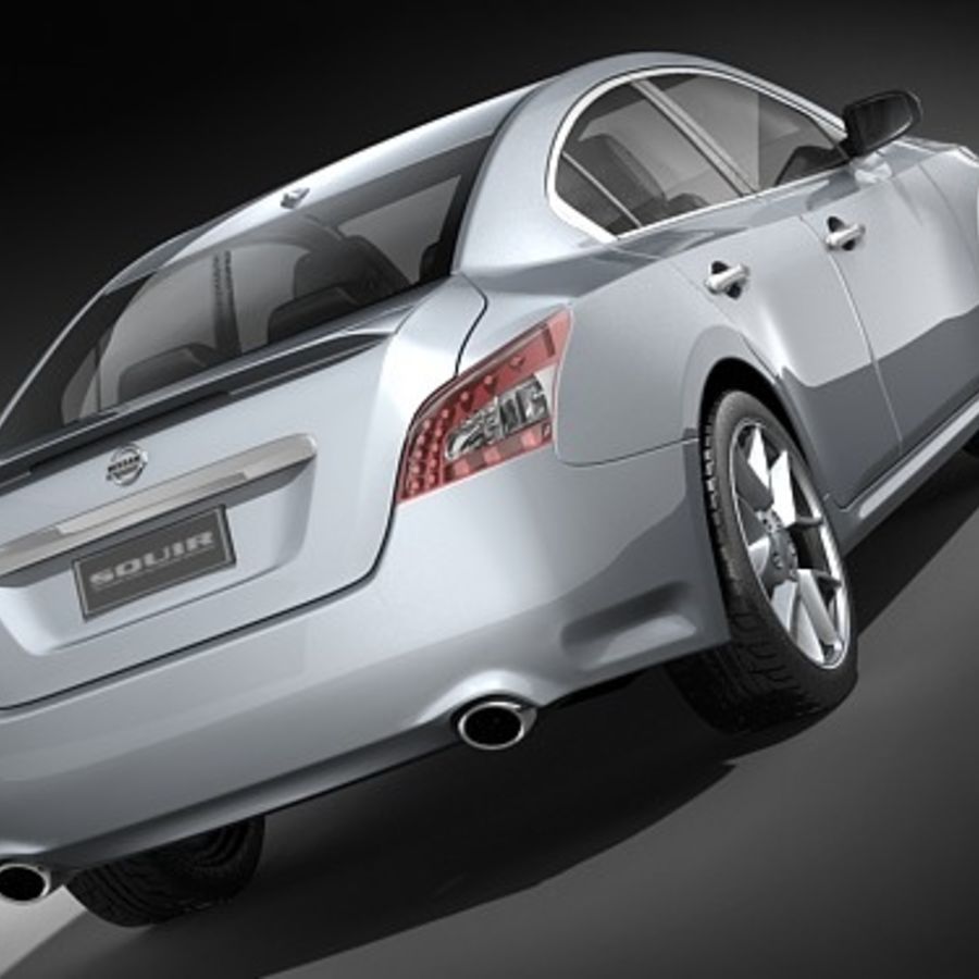 Nissan Maxima 2009 royalty-free 3d model - Preview no. 6